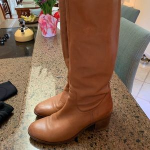 Sam Edelman Tan Leather Riding Boots